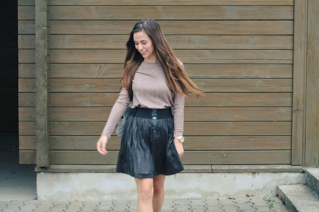 Outfit skirt metallic Oberteil Rock