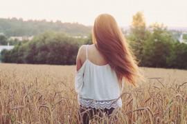 lange braune Haare Zusatzpflege Haar öl