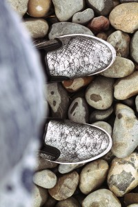 shoes metallic grau
