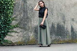 Outfit Fashion Maxi skirt Maxirock schick festlicher Anlass
