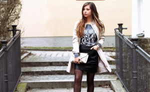 street style lederrock fashion blog mode style lookbook Outfit of the day what i wear