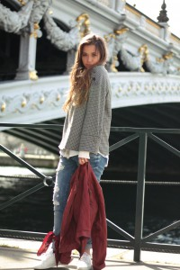 Vichy-Karo Paris Pont Alexandre III Blogger Fashion Modetrend 2017 Frühjahr Sommer