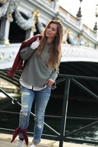 Vichy-Karo Bluse Statement Ärmel Trend 2017 Frühjahr Boyfriend Jeans München Blogger Fashion Blogger Lifestyle Blogger Blogger-Outfit Fashion