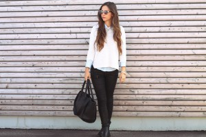 Outfit Layering Hemd unter Oberteil Trend blogger münchen Outfit
