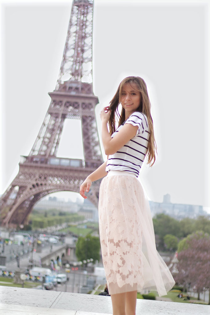Outfit Sheer skirt- setze ein Modestatement