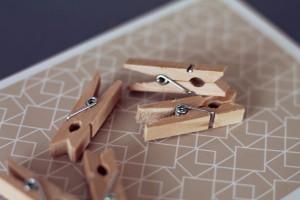 kleine Holzklammer Mini für Fotoseil