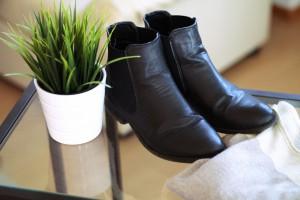 Schuhe schwarze Boots Klassiker Must Have