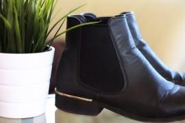 schwarze Boots Schuhe