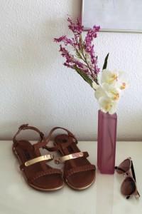 Sandalen Schuhe braun gold Sommer schuhe