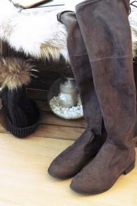 Overknee Schuhe Wildleder