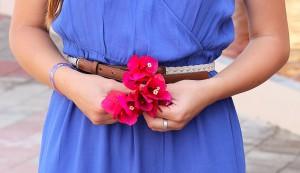 Blüten marineblau Taillengürtel