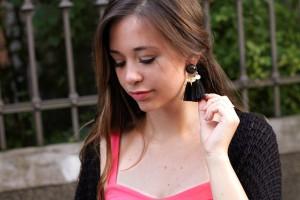 Tassel-Ohrringe-blogger-Look-outfit-selber-machen-schwarz-gold