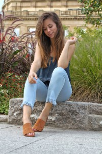 Fransen Jeans Do it yourself selber schneiden blogger fashion Trend Sommer
