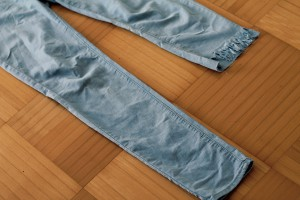 Fransen Jeans blue Diy upcycling