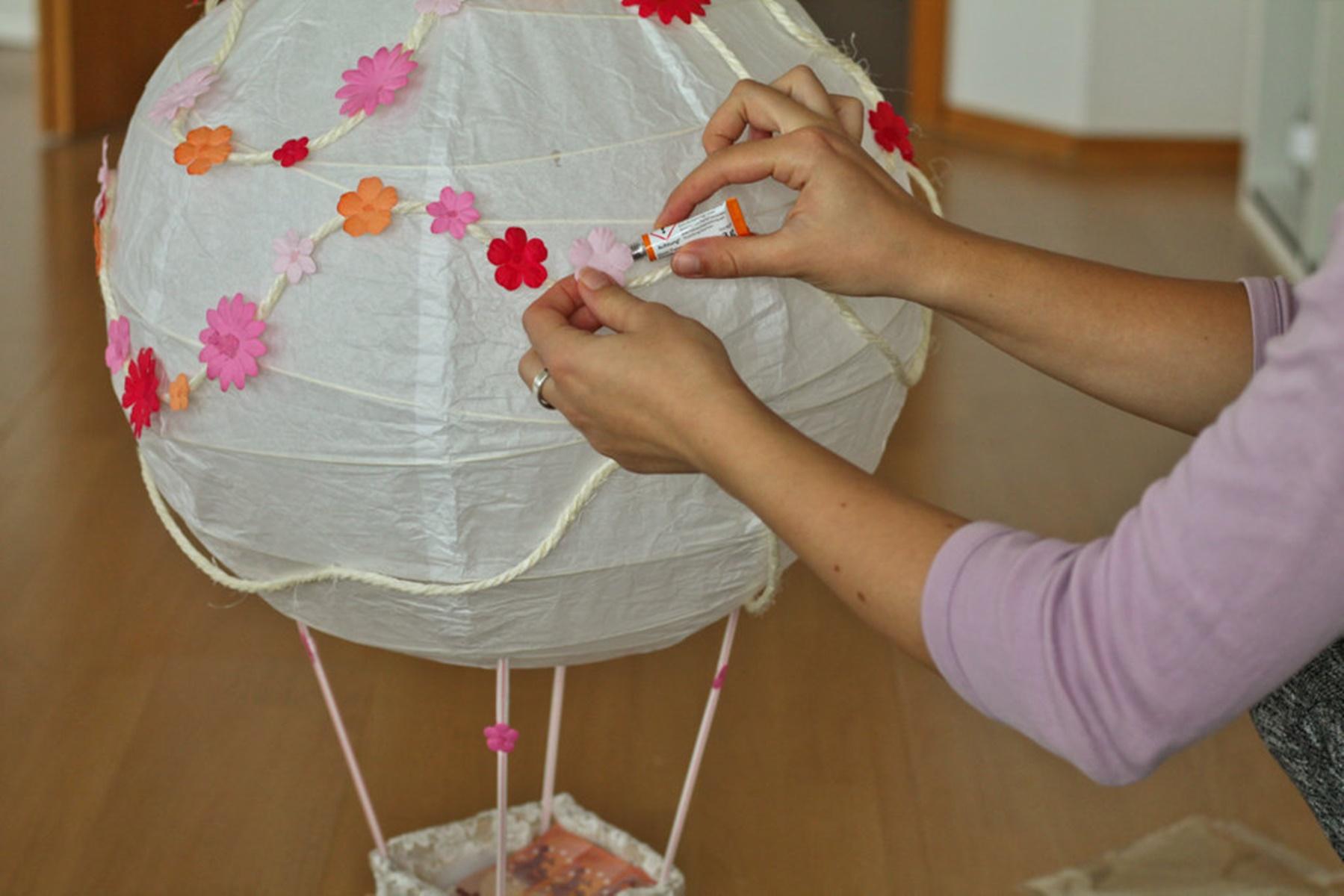 Heißluftballon basteln I Geldgeschenk zur Hochzeit