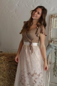 Outfit Sheer Skirt Hochzeitsgast look style blogger augsburg münchen fashion ootd