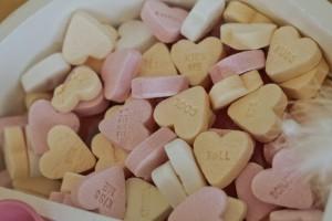 Süßigkeiten in Herzform