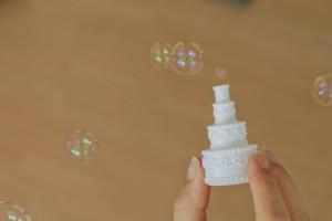 Seifenblasen in Tortenform Hochzeitsgeschenk
