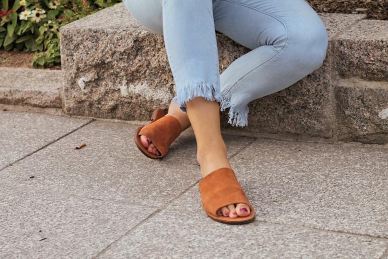 Trend Fransen Jeans Fashion Style Steve Madden Mules braun