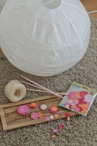 Upcycling Heißluftballon ikea lampe