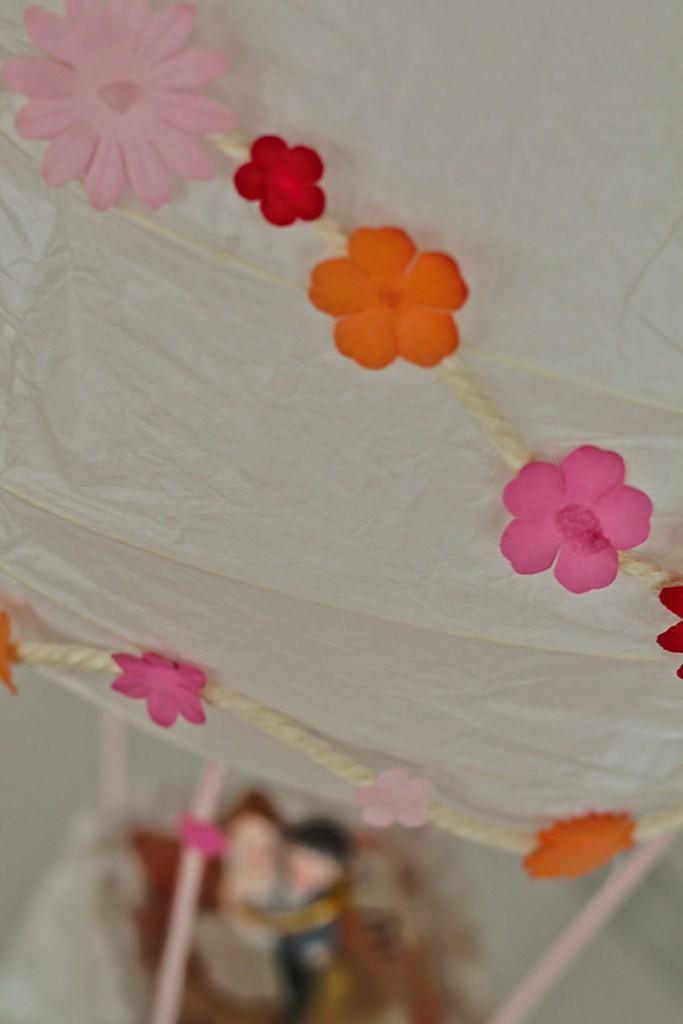 geldgeschenk heißluftballon basteln zur Hochzeit DIY upcycling ikea