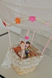 Heißluftballon basteln geldgeschenk heißluftballon basteln zur Hochzeit upcycling