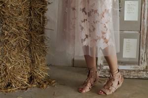sheer skirt rose flower wedding Hochzeitslook