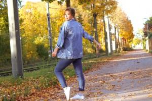 JeansJacke kombinieren oversize ripped Herbstlook Fashion Trend Herbst