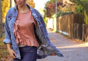 JeansJacke kombinieren oversize ripped