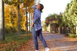 JeansJacke kombinieren oversize ripped Outfitpost Lookbook Blogger Style München Herbst Herbstlook