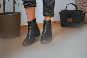 Steve Madden schwarze chelsea boots Business Outfit Business Hose Büro