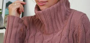 Rollkragenpullover Winter, Kuschelpullover, Rollkragenpullover, Strickpullover mit Rollkragen, pullover großer kragen Damen blogger deutschland Bayern