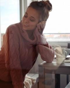 Rollkragenpullover Winter, Kuschelpullover, Rollkragenpullover, Strickpullover mit Rollkragen, pullover großer kragen Damen blogger deutschland