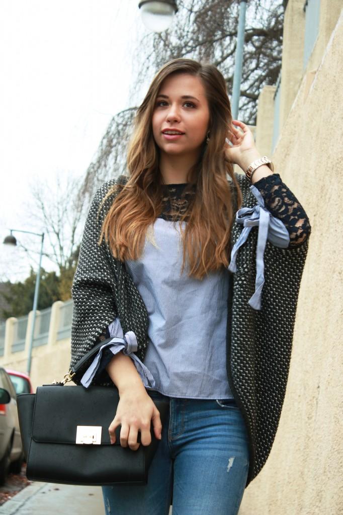 Streifenbluse mit Schleife I Trend 2018 Alltagslook fashion modeblog deutschland ggestreifte bluse bluse mit schleife