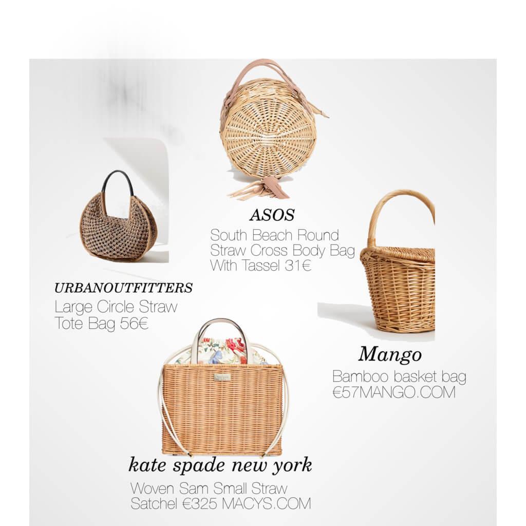 Die schönsten Basket Bags für den Frühling 2018 I Insta-Trend Straw bag Korbtasche Basttasche Handtaschen trend blogger fashion style deutschland
