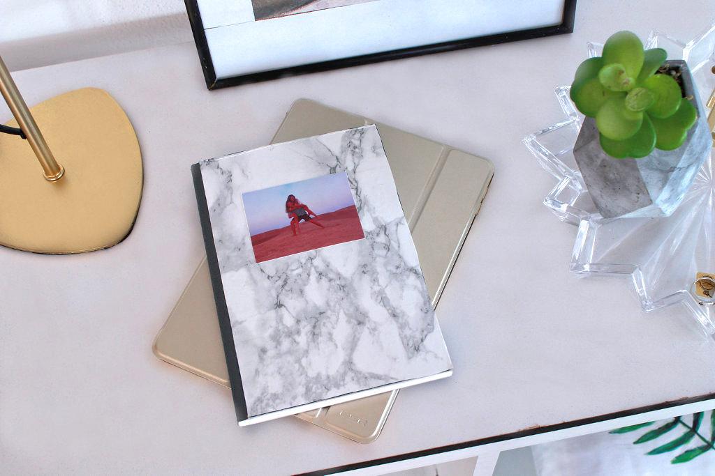 Marmor Möbelstück bekleben Interior Buch Journal Marmor