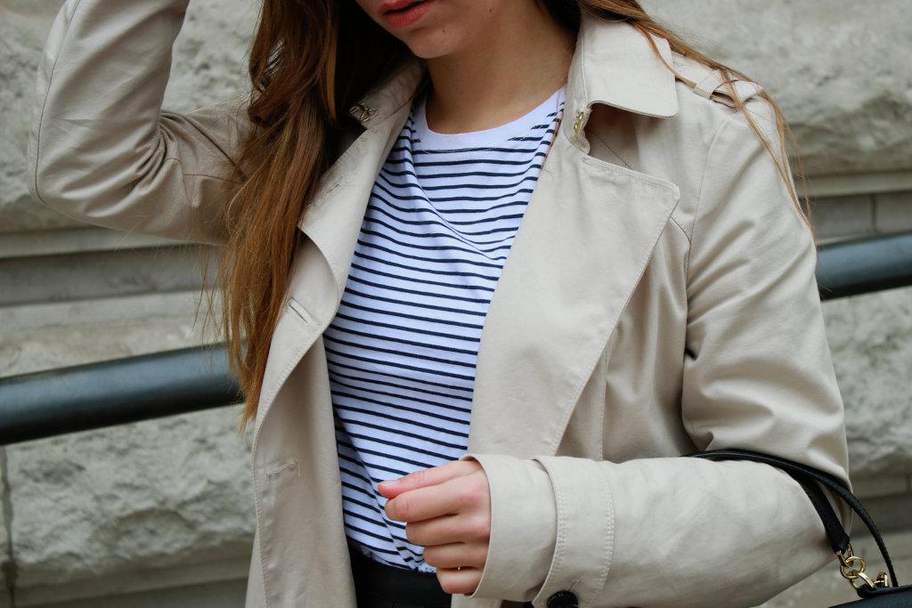 Trenchcoat kombinieren klassischer mantel stylen mit strumpfhose blogerdeutschland fashion style blog