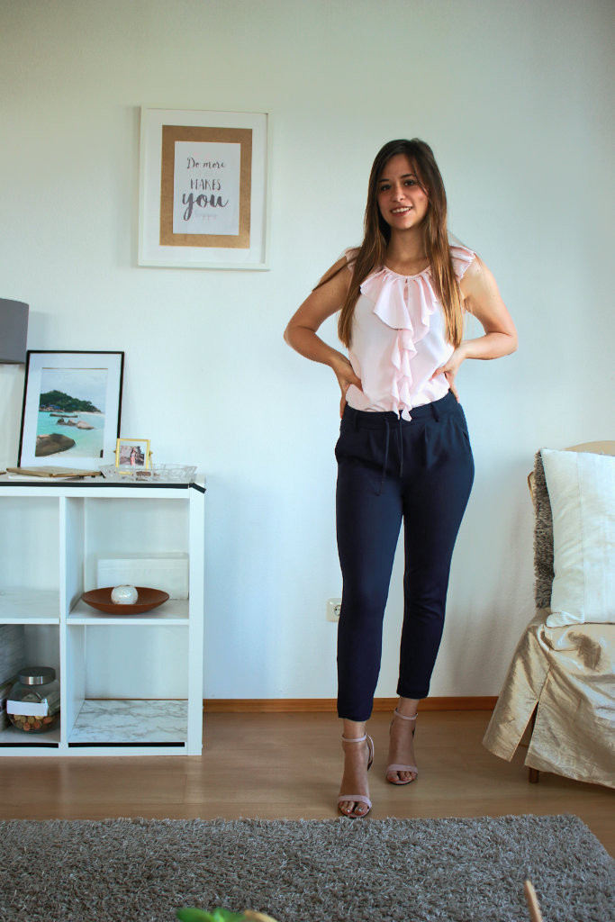 Businesslook bürooutfit für Sommer inspiration lange Hose Bluse Styling Tipps Fashion blogger modeblogger deutschland germany