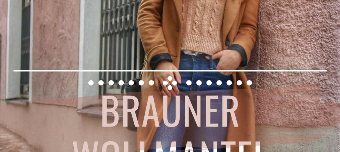 brauner Wollmantel Blue Jeans Plateau Schuhe Outfit Inspiration ootd fashioninspo langer Mantel zweireihig