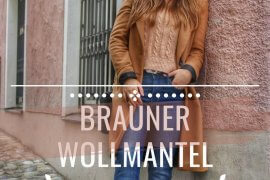 brauner Wollmantel Blue Jeans Plateau Schuhe Outfit Inspiration ootd fashioninspo langer Mantel zweireihig