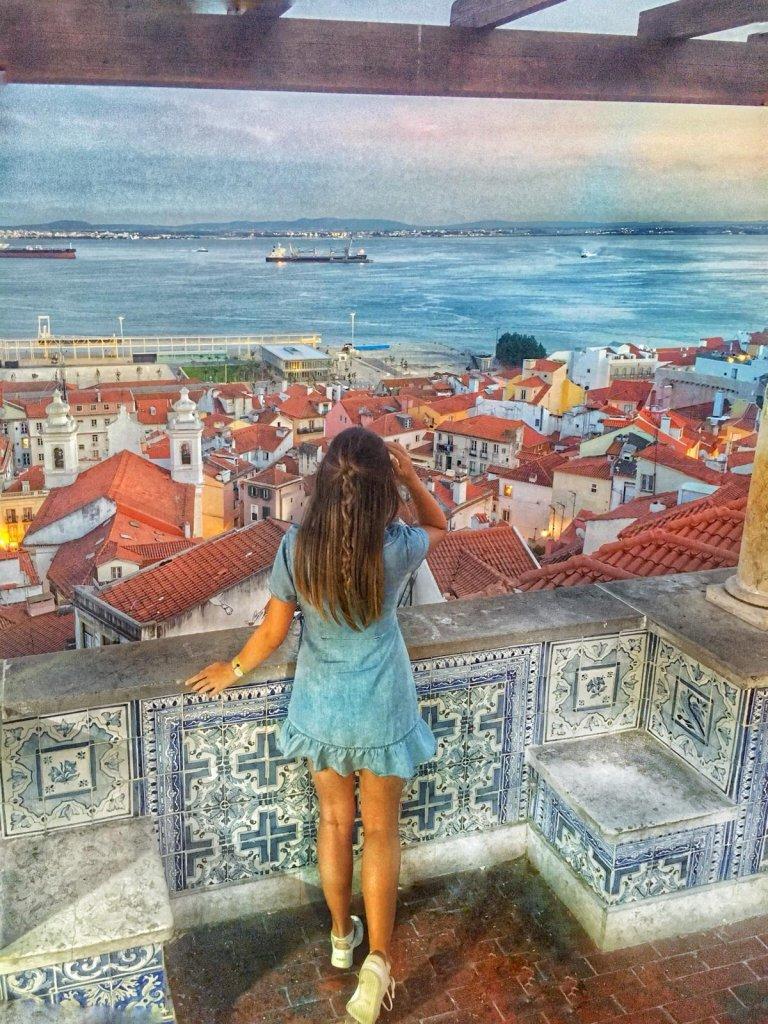 Miradouro de Santa Luzia Reisetipps Lissabon Portugal