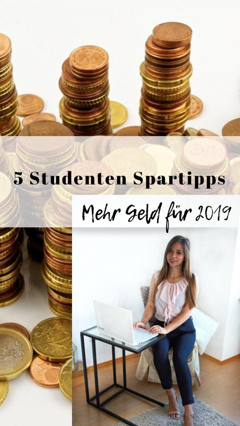 5 Studenten Spartipps- Mehr Geld für 2019