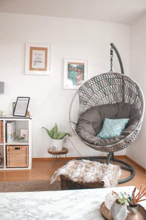 5 Einrichtungstipps- Tropical Wohnzimmer und Hängesessel