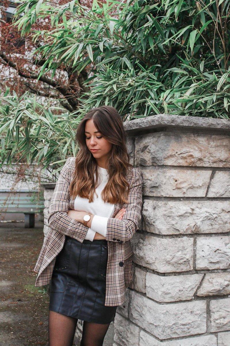 Mein Casual Outfit – karierter Blazer & wie kombinieren wir den Blazer Trend 2019 !