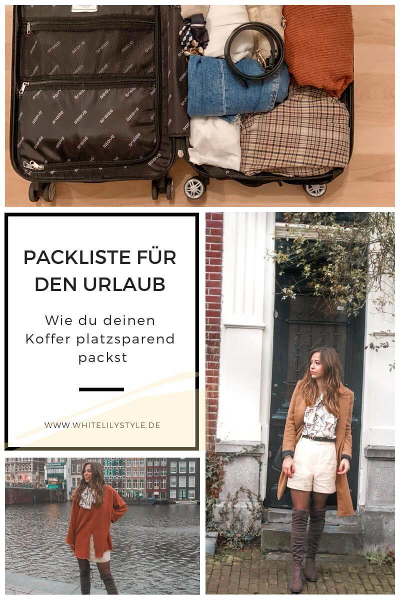 Packliste für den Urlaub – Koffer packen wie ein Profi,  platzsparend den Koffer packen
