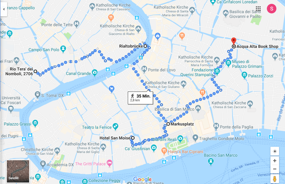 Venedig die 5 schönsten Sehenswürdigkeiten und Locations auf einer Karte