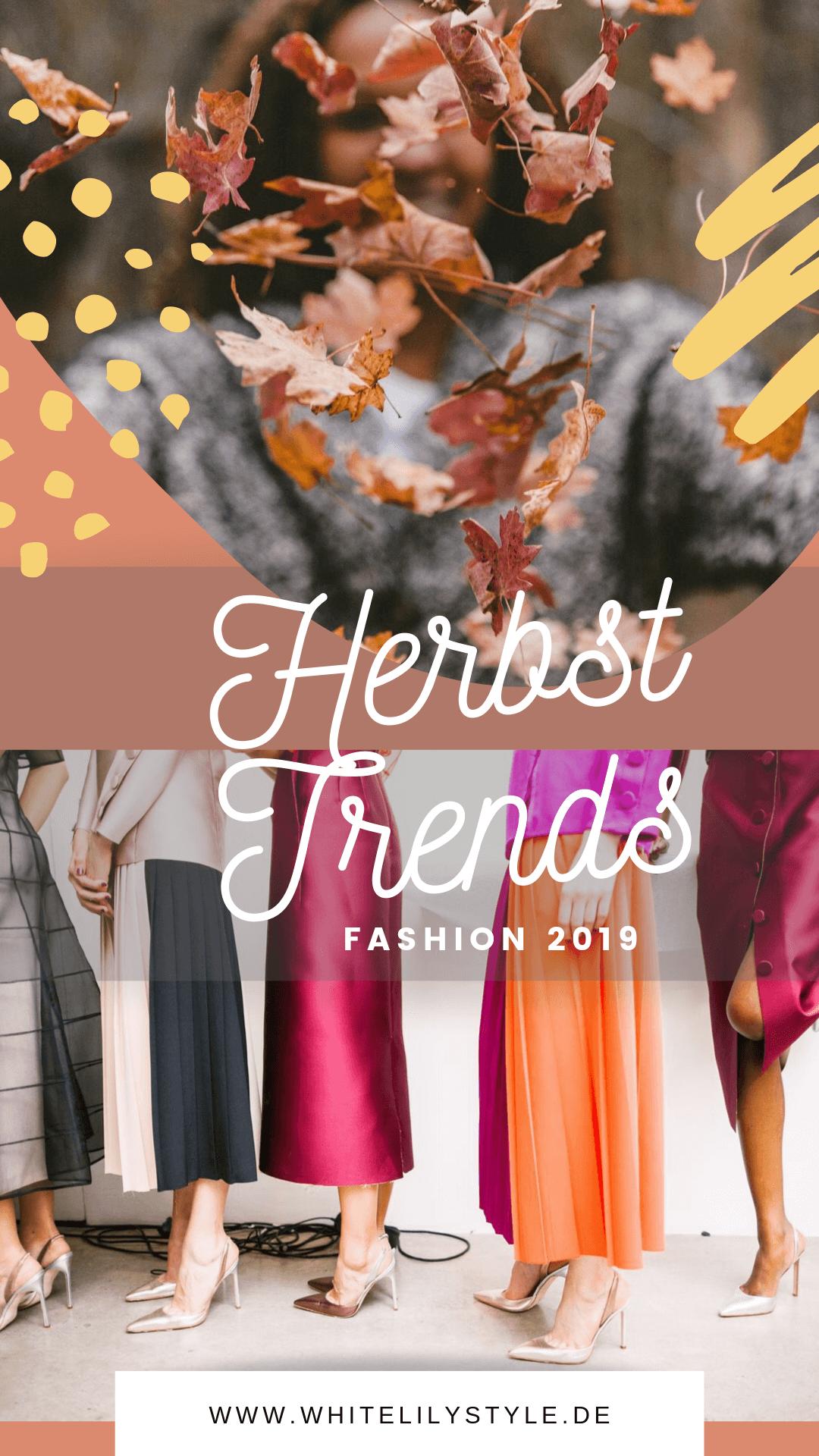 Herbsttrend 2019 - diese Fashion Trends darfst du diesen Herbst nicht verpassen!