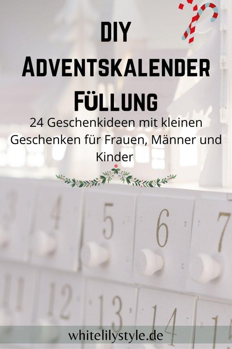 DIY Adventskalender Füllung – was fülle ich in einen DIY Adventskalender?