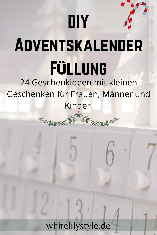 DIY Adventskalender Füllung – was fülle ich in DIY Adventskalender?