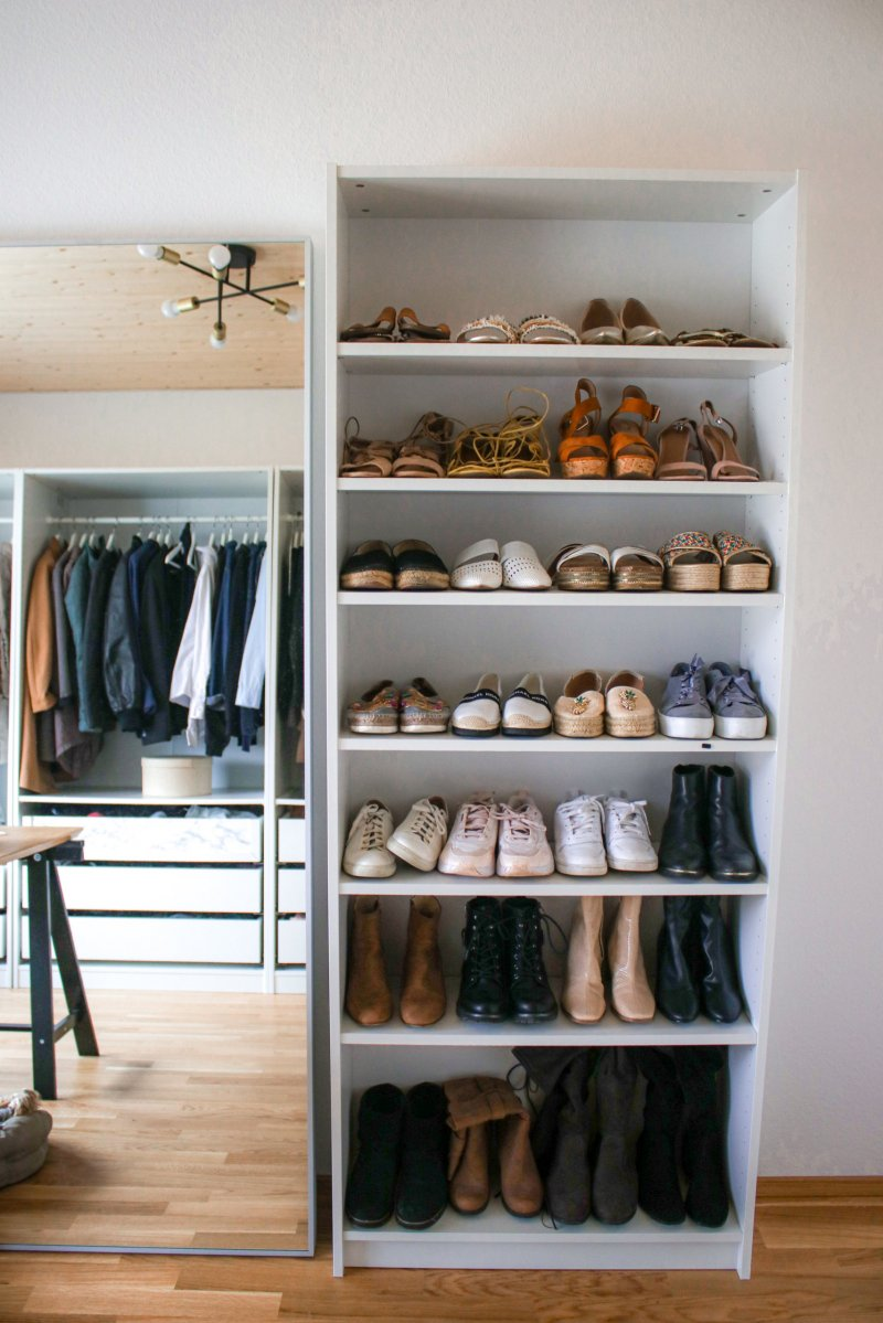 Ikea Billy als Schuhregal – perfekt für begehbaren Kleiderschrank & Ankleidezimmer